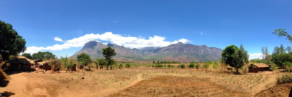 Incredible views of Mt. Mulanje from our Habitat Malawi build site in Geregere